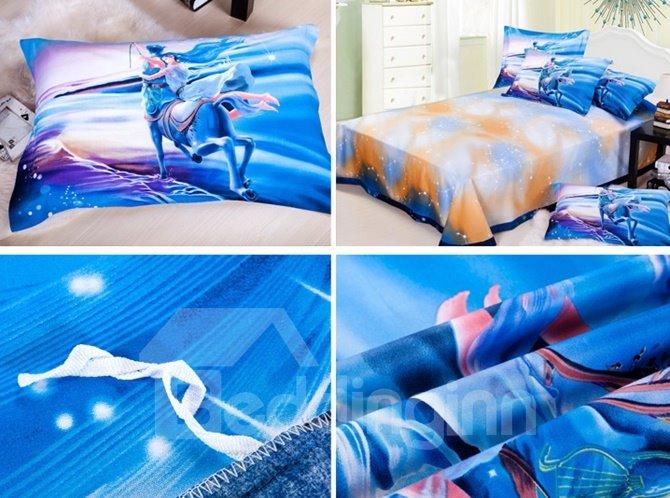 Impressing Sagittarius 3D Printed 4-Piece Cotton Duvet Cover Sets