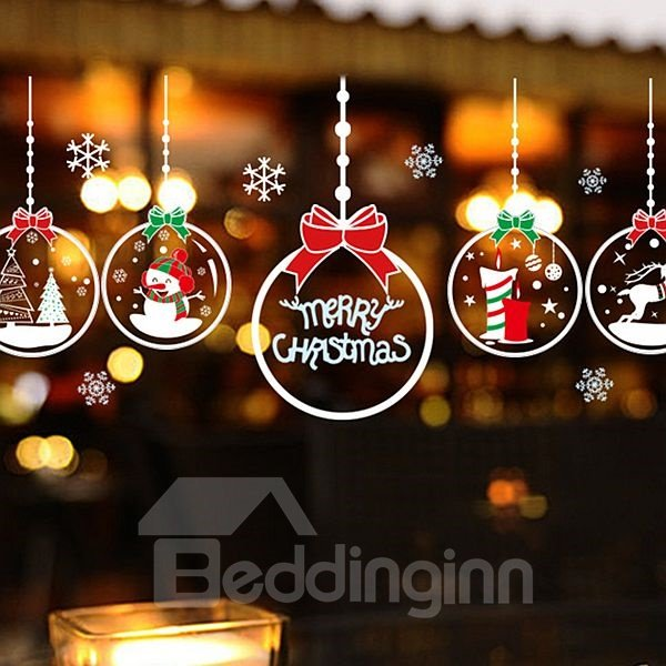 Christmas Decoration Christmas Ball Pattern Sticker