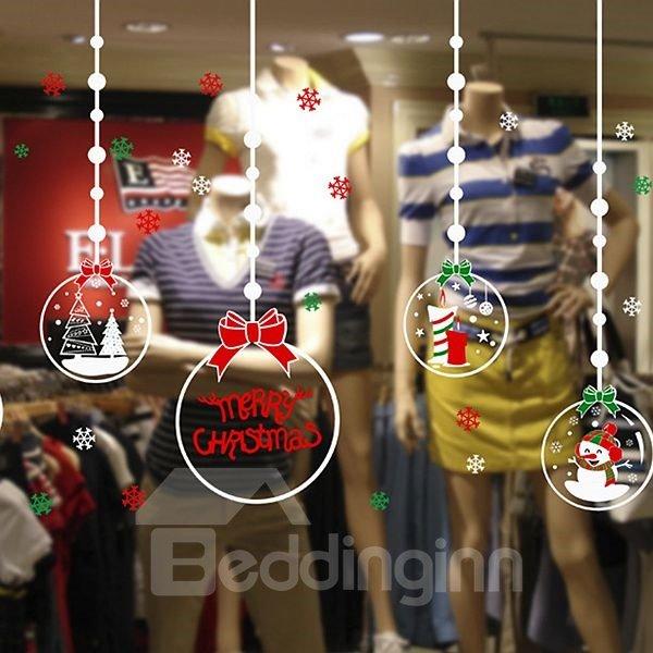 Lovely Festival Christmas Decoration Christmas Ball Pattern Wall Sticker