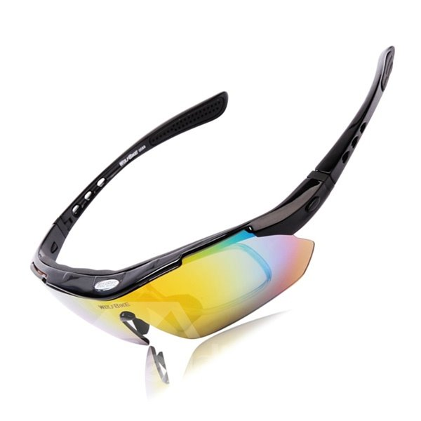 Road Bike PC Material Polarization Glasses Single Layer Conjoined Cycling Glasses