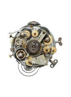Creative Design Watch Gear Needle and Digital Sticker Wall Clock