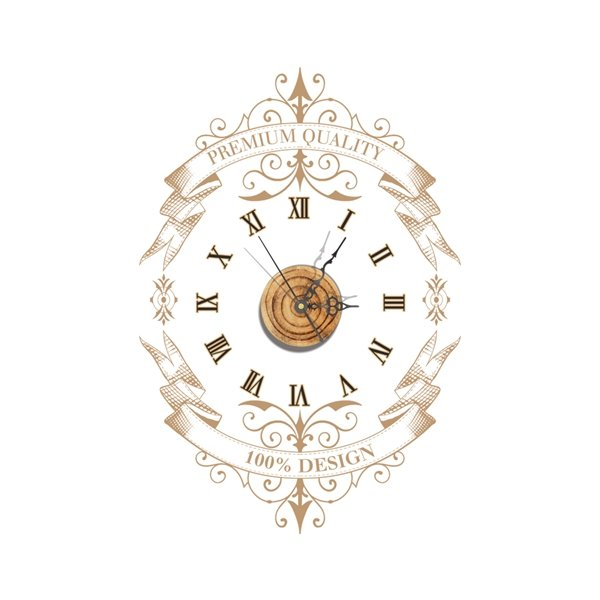 Unique Design Decorative Needle and Digital Sticker Wall Clock