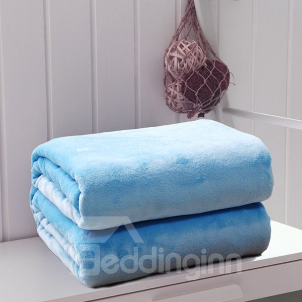 Minimalist Style Solid Color Soft Flannel Blanket