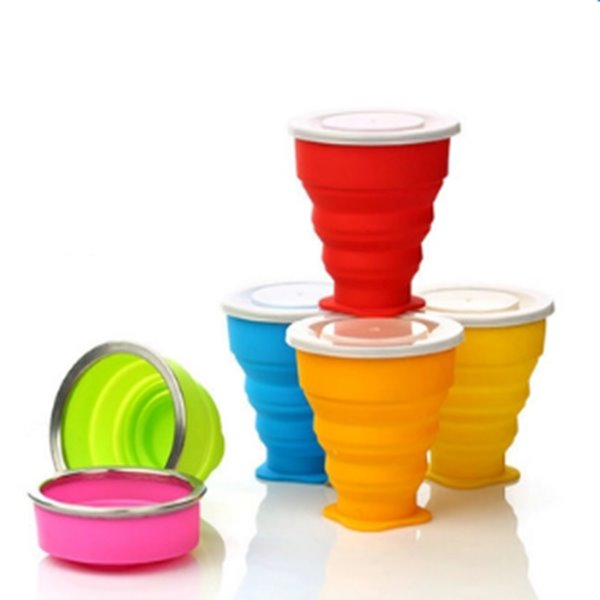 Solid Color Outdoor Portable Multi-functional Silica Gel Water Cup 12250676