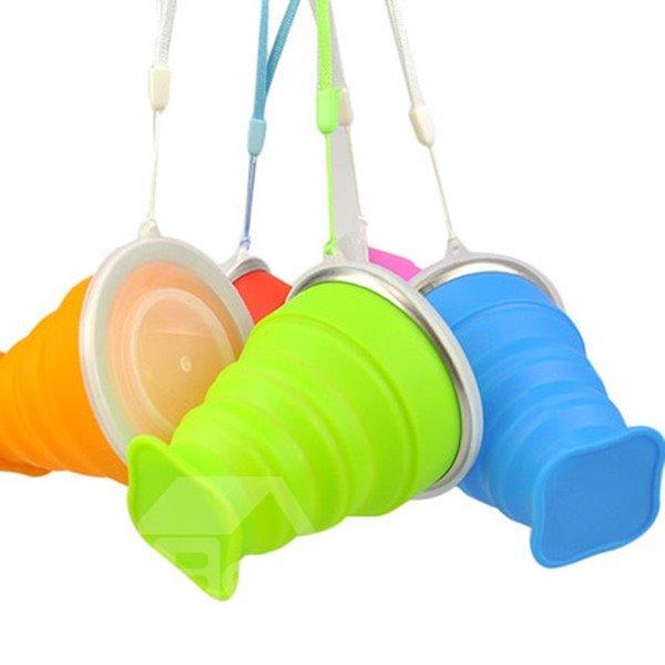 Solid Color Outdoor Portable Multi-functional Silica Gel Water Cup