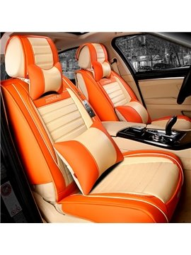 Fashional Orange With Beige Mixed Charming Five Car Seat Cover
