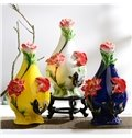 Wonderful Ceramic Flower and Fish Pattern Flower Vase Painted Pottery
