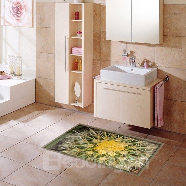 Amazing Cactus Pattern Slipping-Preventing Water-Proof Bathroom 3D Floor Sticker