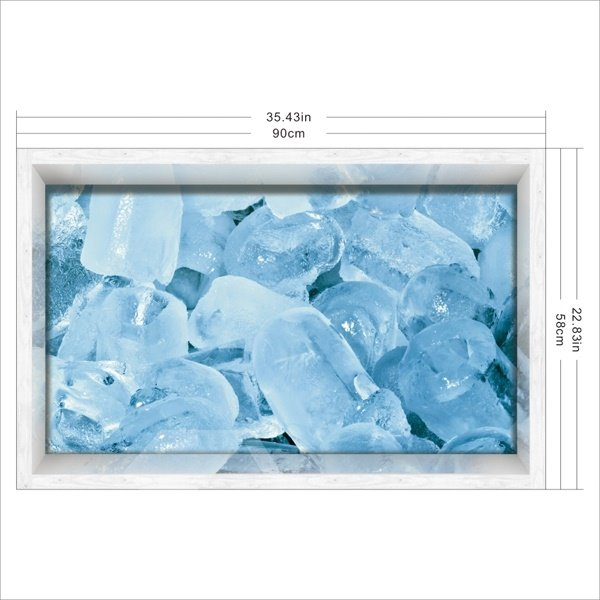 Blue Ice Pattern Slipping-Preventing Water-Proof Bathroom 3D Floor Sticker