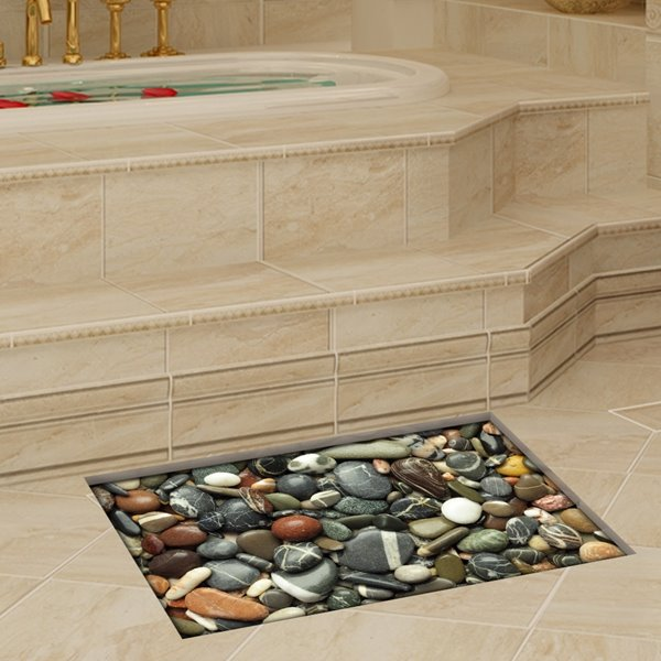 Decorative Stone Pattern Slipping-Preventing Water-Proof Bathroom 3D Floor Sticker
