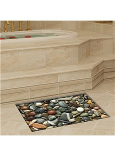 Decorative Stone Pattern Slipping-Preventing Water-Proof Bathroom 3D Floor Sticker