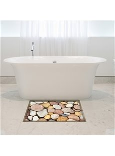 Simple Style Stone Pattern Slipping-Preventing Water-Proof Bathroom 3D Floor Sticker