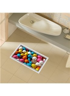 Wonderful Candy Grain Slipping-Preventing Water-Proof Bathroom 3D Floor Sticker