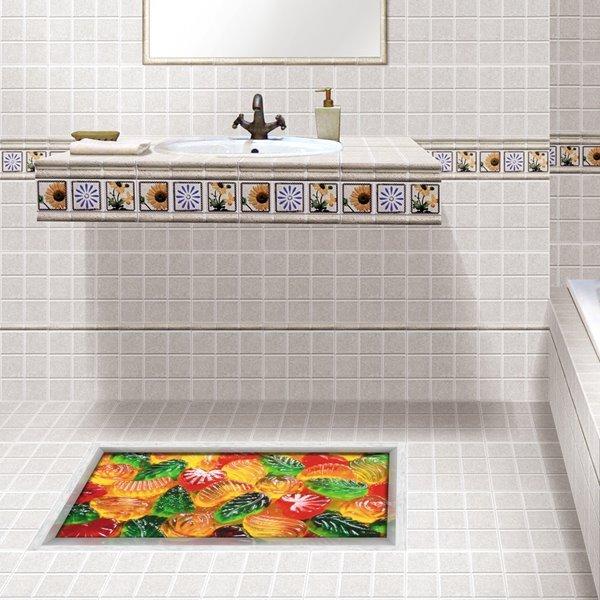 Cute Fruit Pattern Slipping-Preventing Water-Proof 3D Floor Sticker