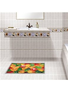 Cute Fruit Pattern Slipping-Preventing Water-Proof 3D Floor Sticker