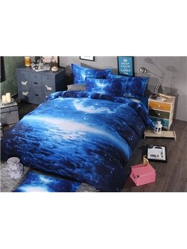 Creative Design Moon Night 4-Piece Duvet Cover Sets