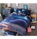 Magic Universe Print 4-Piece Polyester Duvet Cover Sets
