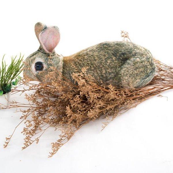 Lovely Lifelike Rabbit Shape Decorative Throw Pillow