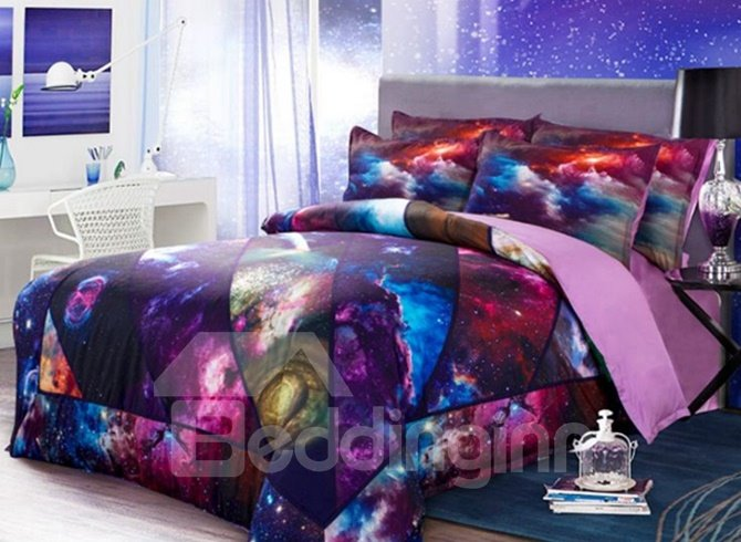 Dazzling Galaxy 3D Printed 4-Piece Duvet Cover Sets