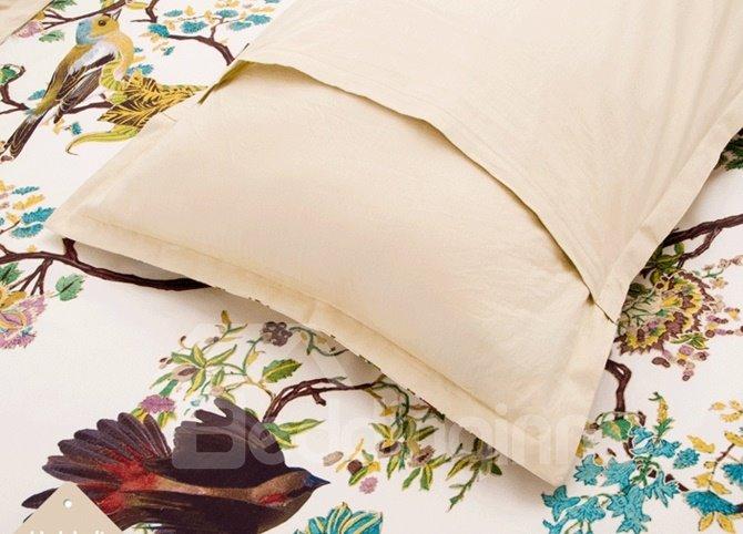 Pastoral Style Magpie Print 4-Piece Duvet Cover Sets