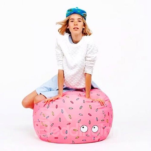 Christmas Gift Candy Puffs Pattern Red Bean Bag Chair