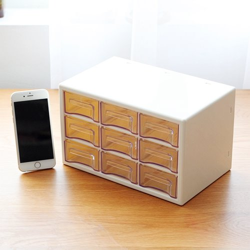 Transparent Drawer Style Office Desktop Storage Box