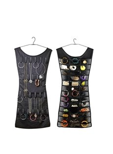 Creative Women Dress Shaped Freely Rotating Hook Jewelry Organizer