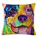 Chic Pope Dog Print Cotton Throw Pillow Case