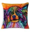 100% Cotton Lovely Dogs Print Throw Pillow Case
