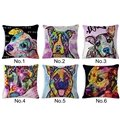 Popular Design Dog Print Cotton Throw Pillow Case