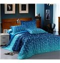 Dreamy Night Design Blue 4-Piece Cotton Duvet Cover Sets