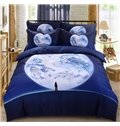 Magic World Reactive Printing Cotton 4-Piece Duvet Cover Sets