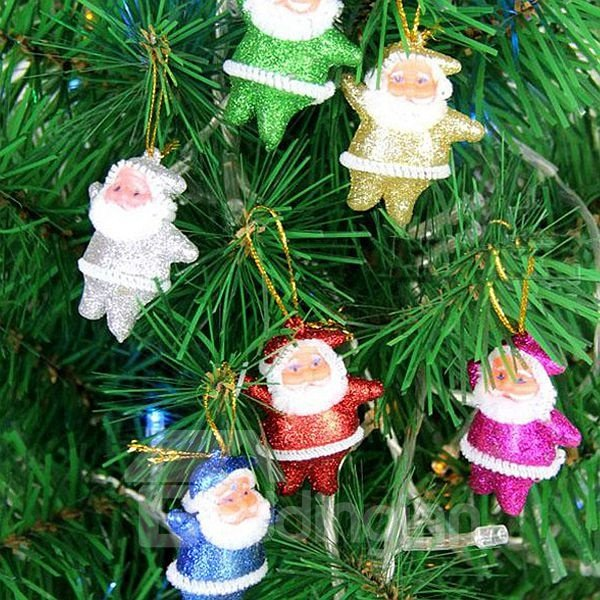 Festival Christmas Tree Decoration Santa Claus Pattern Pendant