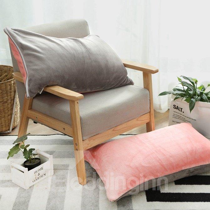 Solid Color Skin Care Flannel 4-Piece Duvet Cover Sets