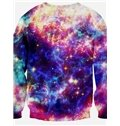 Long Sleeve Dog with Sunglass Pattern Multicolor Background 3D Painted Pullover Sweatshirt