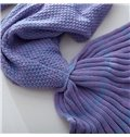 Popular Design Soft Knitted Mermaid Tail Orlon Blanket