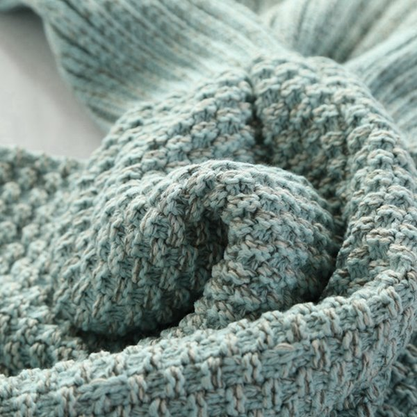 Cozy and Comfy Knitted Mermaid Tail Orlon Blanket