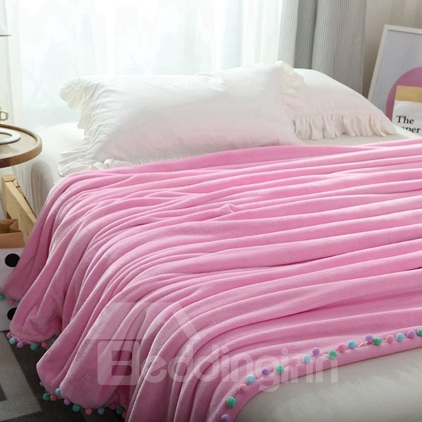 Chic Design Soft Flannel Fringe Throw Blanket