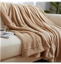 Fantastic Soft Flannel and Imitated Cashmere Blanket