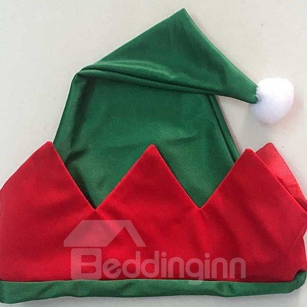 Unique Christmas Elf Pattern Apron and Hat