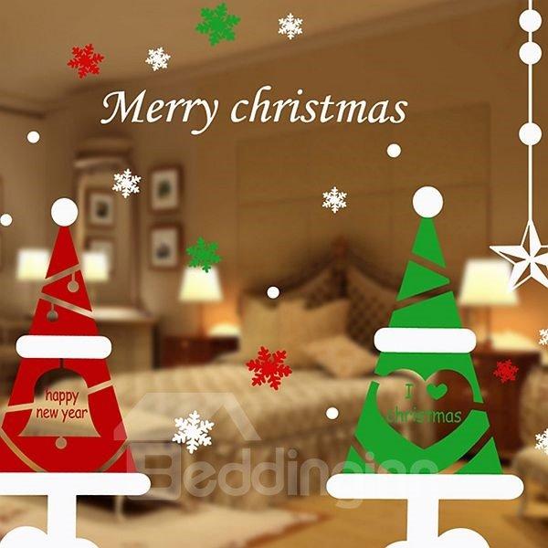 Festival Christmas Decoration Christmas Tree Pattern Wall Sticker