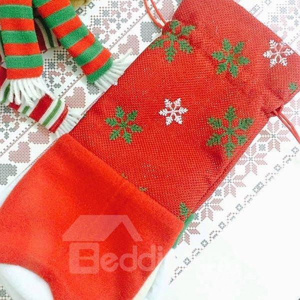 Unique Festival Christmas Decoration Wine Tote Bag