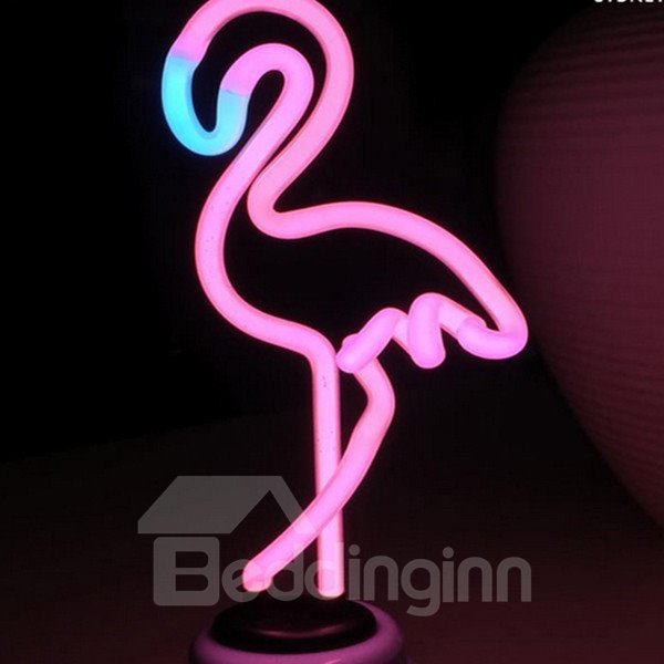Unique Design Decorative Flamingo Shape USB LED Night Light