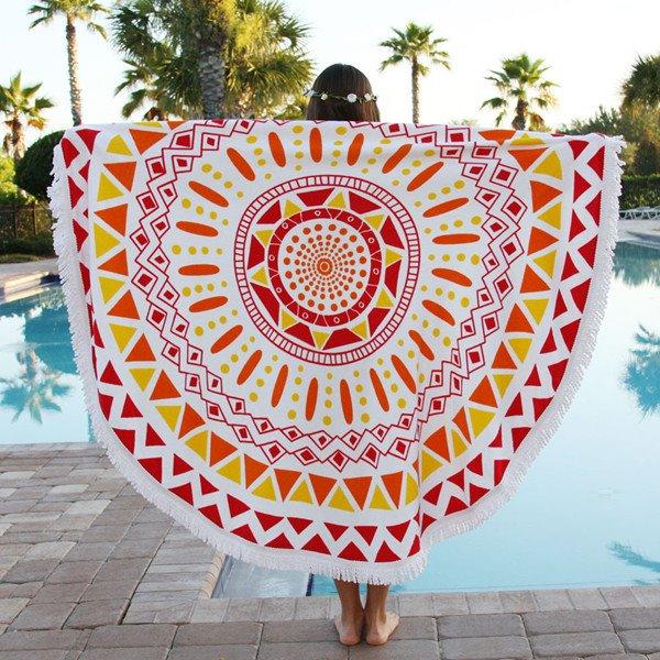 Indian Mandala Hippy Style Big Round Multi Usage Beach Throw Mat
