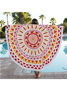 Indian Mandala Hippy Style Big Round Multi Usage Beach Throw Mat