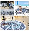 Black Hippy Gypsy Style Multi Usage Beach Throw Mat