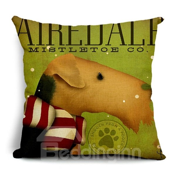 Marvelous Animal and Letters Print Throw Pillow Case
