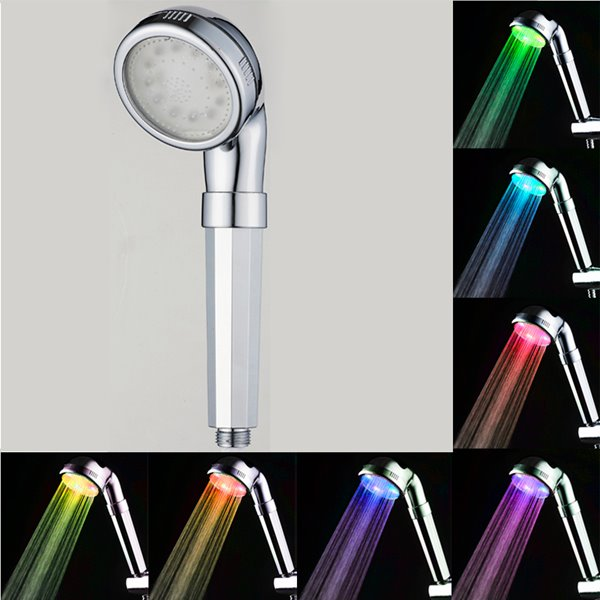 Hand-Held 7 Vibrant LED Colors Change Automatically Every Few Seconds Shower Head 12268241