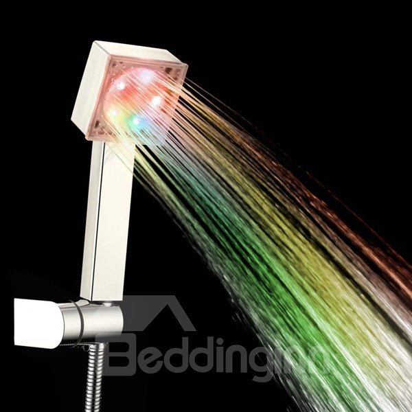 Wall Mounted LED Multicolor 7 Colors Water Glow Light Rainfall Shower head