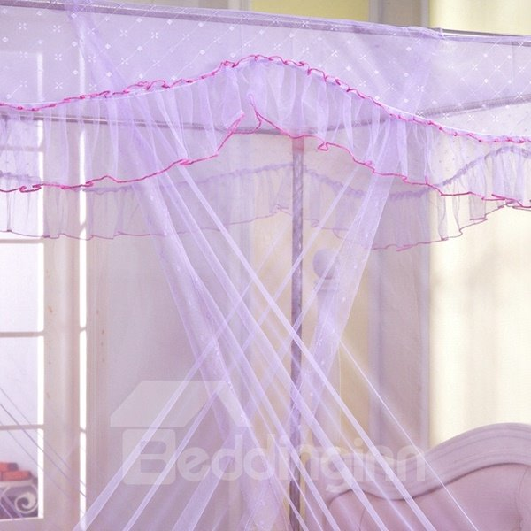 Elegant Solid Color Metal Steel Frame Box Mosquito Net